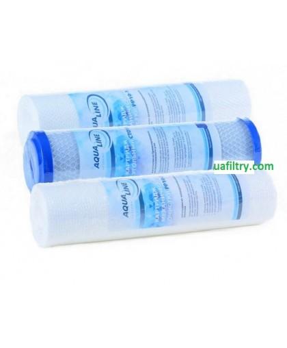 """Комплект сменных картриджей """"Aqualine"""" для RO (PP5, СТО-10, PP1)"""