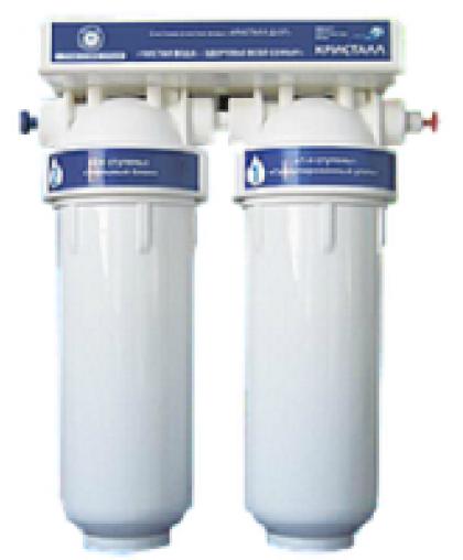 """Проточный фильтр для очистки воды""""Кристалл Дуэт"""""""